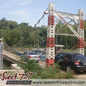 Suspension bridge in Moruga.