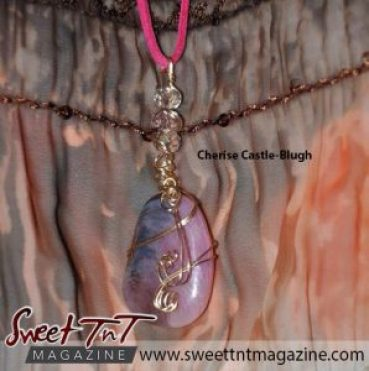 Wire wrapped Agates by Cherise Castle-Blugh