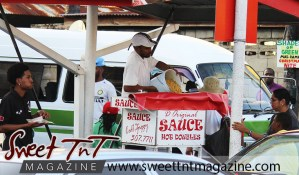 Sauce doubles, Curepe in sweet T&T for Sweet TnT Magazine, Culturama Publishing Company, for news in Trinidad, in Port of Spain, Trinidad and Tobago, with positive how to photography.