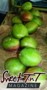 Julie mangoes at the Tunapuna Market
