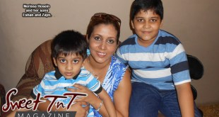 Nerissa Hosein with her son's for article, Unconditional Love, a Mother's Love in sweet T&T for Sweet TnT Magazine, Culturama Publishing Company, for news in Trinidad, in Port of Spain, Trinidad and Tobago, with positive how to photography.