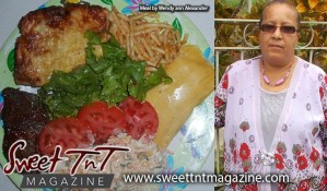Secret ingredient for Pastelle, cheese macaroni pie, stewed chicken, potato salad, lettuce by Wendy Ann Alexander, Sweet T&T, Sweet TnT, Trinidad and Tobago, Trini, vacation, travel,