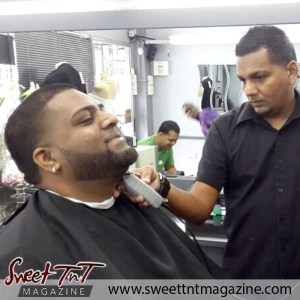 Barber Faisal Mohammed, Master of Fades in salon at work, Sweet T&T, Sweet TnT, Trinidad and Tobago, Trini, vacation, travel