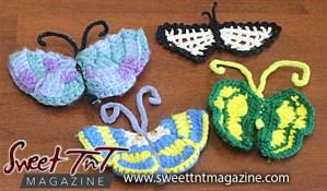 Knitte butterflies, crochet by Joyce James Pitman, Sweet T&T, Sweet TnT, Trinidad and Tobago, Trini, vacation, travel
