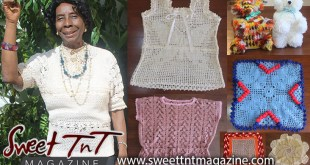 Joyce James Pitman, knitted blouses, toilet paper holders, doilies, knit, crochet, Sweet T&T, Sweet TnT, Trinidad and Tobago, Trini, vacation, travel,