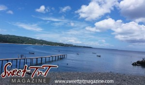 An afternoon at Plymouth, Tobago, sea, blue sky, jetty, by Kielon Hilaire, in Sweet T&T, Sweet TnT Magazine, Trinidad and Tobago, Trini, vacation, travel