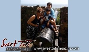 Nerissa Hosein, Eshan, Zayn, Tobago getaway, Fort King George, cannon, Sweet T&T, Sweet TnT, Trinidad and Tobago, Trini, vacation, travel,