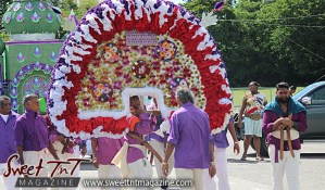 Hosay Muslims celebrate in Sweet T&T, Sweet TnT, Trinidad and Tobago, Trini, Travel, Vacation, Tourist, Hosay, Muslim, Parade, Tomb, Drummers, Funeral Procession, Woodbrook, St James, St Clair, Palm, Dancing the moon, Tadjahs, Moons, Tadjahs, mosques, Hussein, Hassan, tombs, tassa side, two moons, Husayn, Hassan