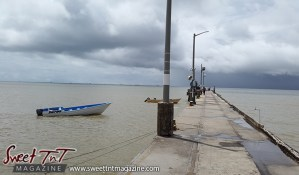 Icacos jetty boat water by Marika Mohammed for story Icacos end of Trinidad in Sweet T&T, Sweet TnT, Trinidad and Tobago, Trini, vacation, travel