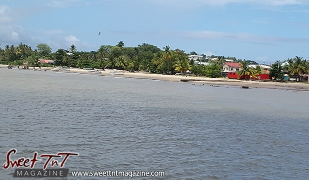 Icacos water shore sky red house by Marika Mohammed for story Icacos end of Trinidad in Sweet T&T, Sweet TnT, Trinidad and Tobago, Trini, vacation, travel