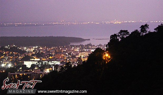 Belmont view with San Fernando in background in city of Port of Spain from Lady Chancellor Hill in sweet t&t for Sweet TnT Magazine in Trinidad and Tobago for tourists, photography, scenic views, vacation, travel