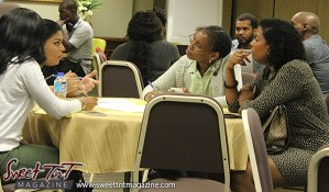 Group discussing ideas at Launch Rockit business in 54 hours in sweet t&t for Sweet TnT Magazine in Trinidad and Tobago