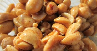 Honey nuts, by Nadia Ali for recipe on honey roasted peanuts in sweet T&T for Sweet TnT Magazine, Culturama Publishing Company, for news in Trinidad, in Port of Spain, Trinidad and Tobago, with positive how to photography.