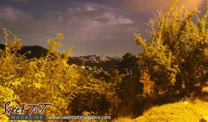 View at sunset of St Ann's from the summit city of Port of Spain from Lady Chancellor Hill in sweet t&t for Sweet TnT Magazine in Trinidad and Tobago for tourists, photography, scenic views, vacation, travel