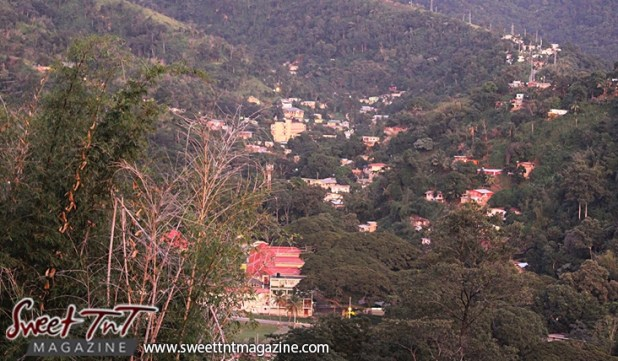 St Ann's houses on the mountains in city of Port of Spain from Lady Chancellor Hill in sweet t&t for Sweet TnT Magazine in Trinidad and Tobago for tourists, photography, scenic views, vacation, travel