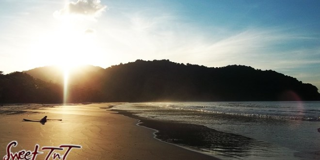 Sunset at Las Cuevas Beach for New Year resolution article in sweet T&T for Sweet TnT Magazine, Culturama Publishing Company, for news in Trinidad, in Port of Spain, Trinidad and Tobago, with positive how to photography.