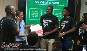 Winner entrepreneurs receive prize of units for idea at Launch Rockit business in 54 hours sweet t&t for Sweet TnT Magazine in Trinidad and Tobago