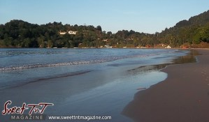 Las Cuevas Beach shoreline in sweet T&T for Sweet TnT Magazine, Culturama Publishing Company, for news in Trinidad, in Port of Spain, Trinidad and Tobago, with positive how to photography.