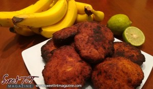 Banana fritters in sweet T&T for Sweet TnT Magazine, Culturama Publishing Company, for news in Trinidad, in Port of Spain, Trinidad and Tobago, with positive how to photography.
