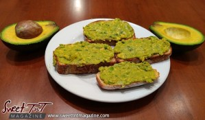 Avocado toast in sweet T&T for Sweet TnT Magazine, Culturama Publishing Company, for news in Trinidad, in Port of Spain, Trinidad and Tobago, with positive how to photography.