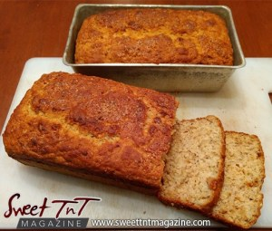 Banana bread in sweet T&T for Sweet TnT Magazine, Culturama Publishing Company, for news in Trinidad, in Port of Spain, Trinidad and Tobago, with positive how to photography.