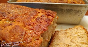 Banana bread sliced in sweet T&T for Sweet TnT Magazine, Culturama Publishing Company, for news in Trinidad, in Port of Spain, Trinidad and Tobago, with positive how to photography.