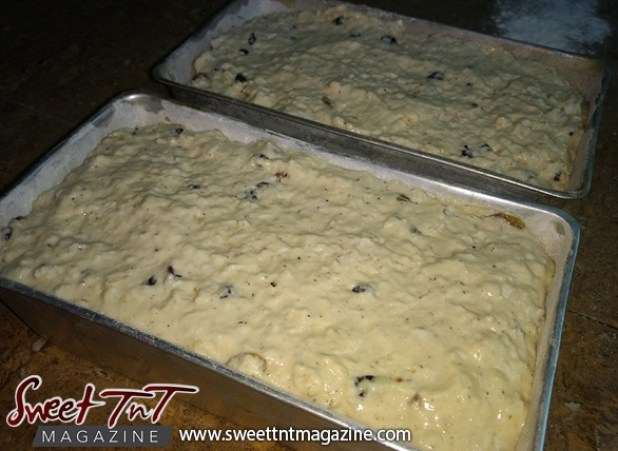 Sweetbread dough in pan sweet T&T, Sweet TnT Magazine, Culturama Publishing Company, news in Trinidad, Port of Spain, Trinidad and Tobago, Trini, Caribbean, twin islands, red white black flag, tourism, Joyanne James, Jevan Soyer, travel, vacation, Port of Spain, g, f, how to, photography