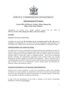 Service Commission Vacancies