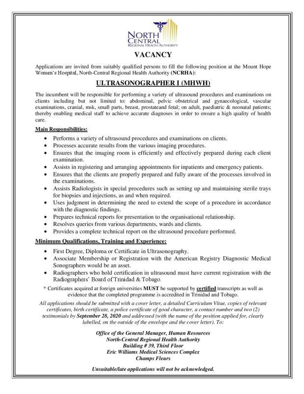 Vacancies at NCRHA