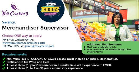 Merchandiser Supervisor
