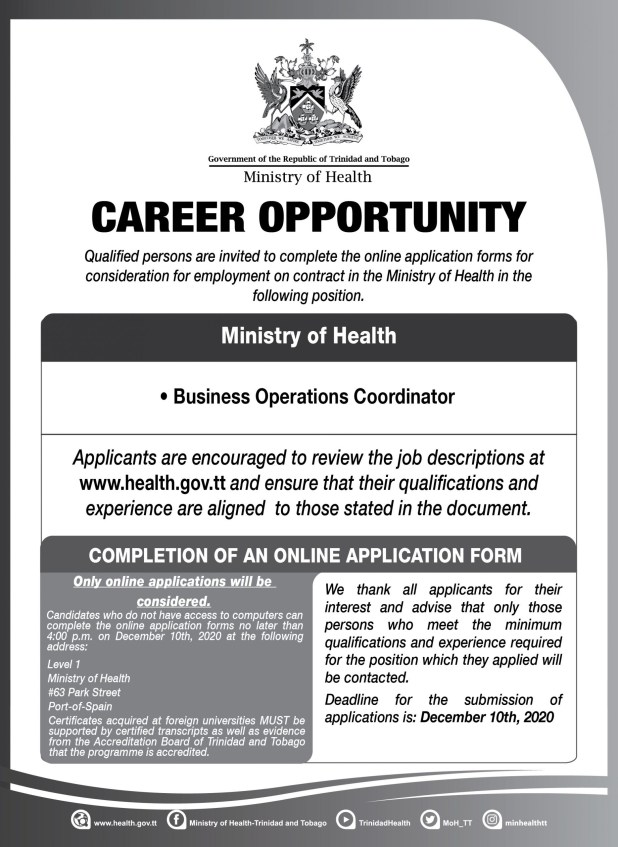 Government Vacancies December 2020