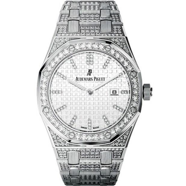 AUDEMARS PIGUET Royal Oak Lady Diamond Silver Dial White Gold Ladies Watch 67652BC.ZZ.1262BC.01