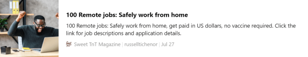 WORK FROM HOME, Remote jobs