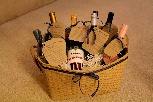 Bridal Shower Gift Idea: Wine Basket With Poems