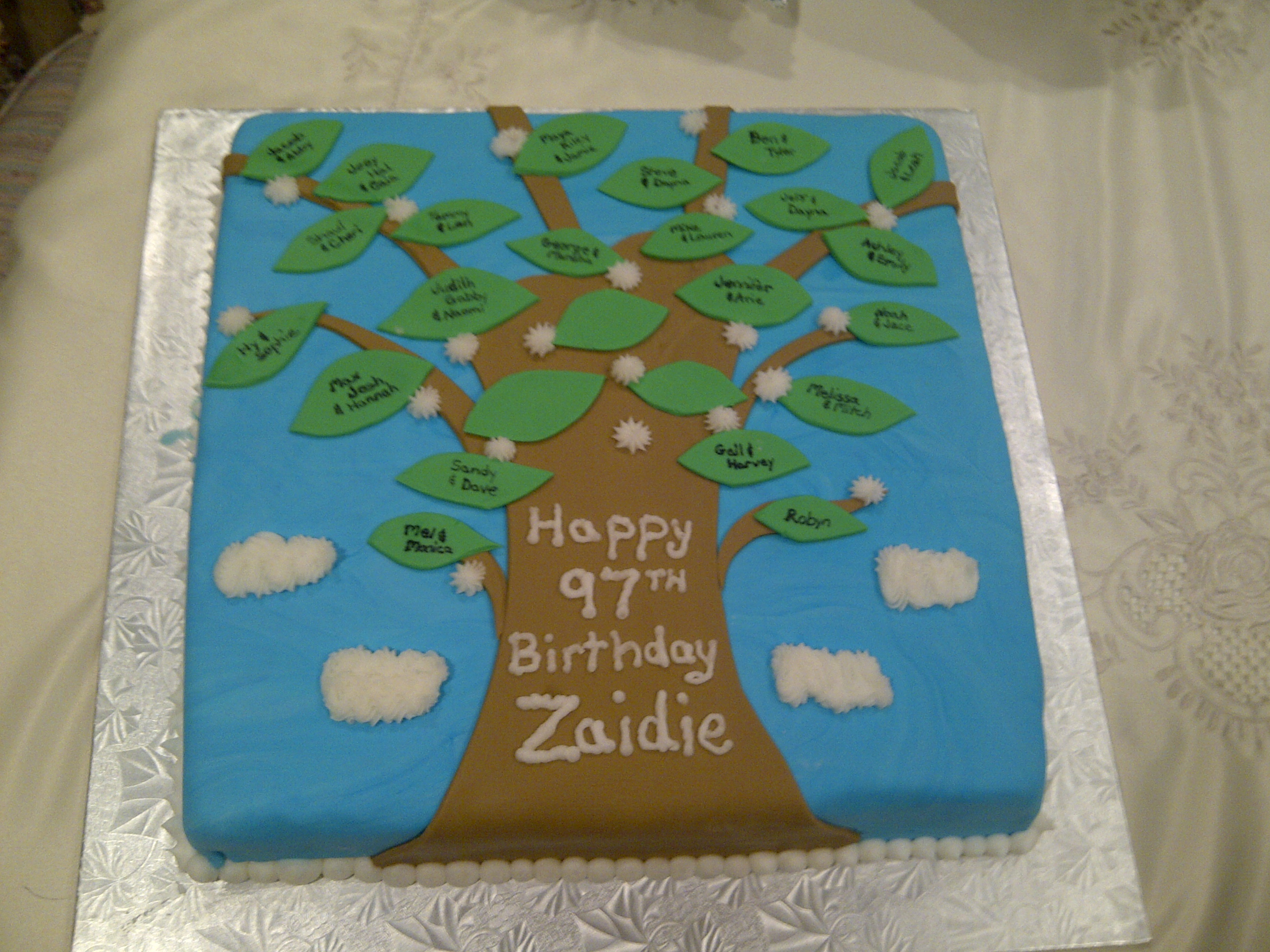 Family Reunion Trees Cake Ideas And Designs