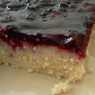 Couscous Cake with Berry Topping