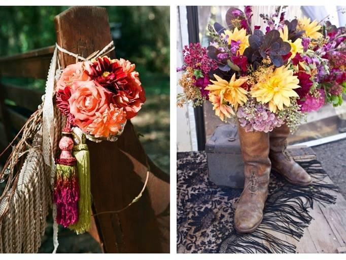 fall wedding floral