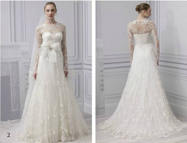 Monique Lhuillier longsleeve wedding dress
