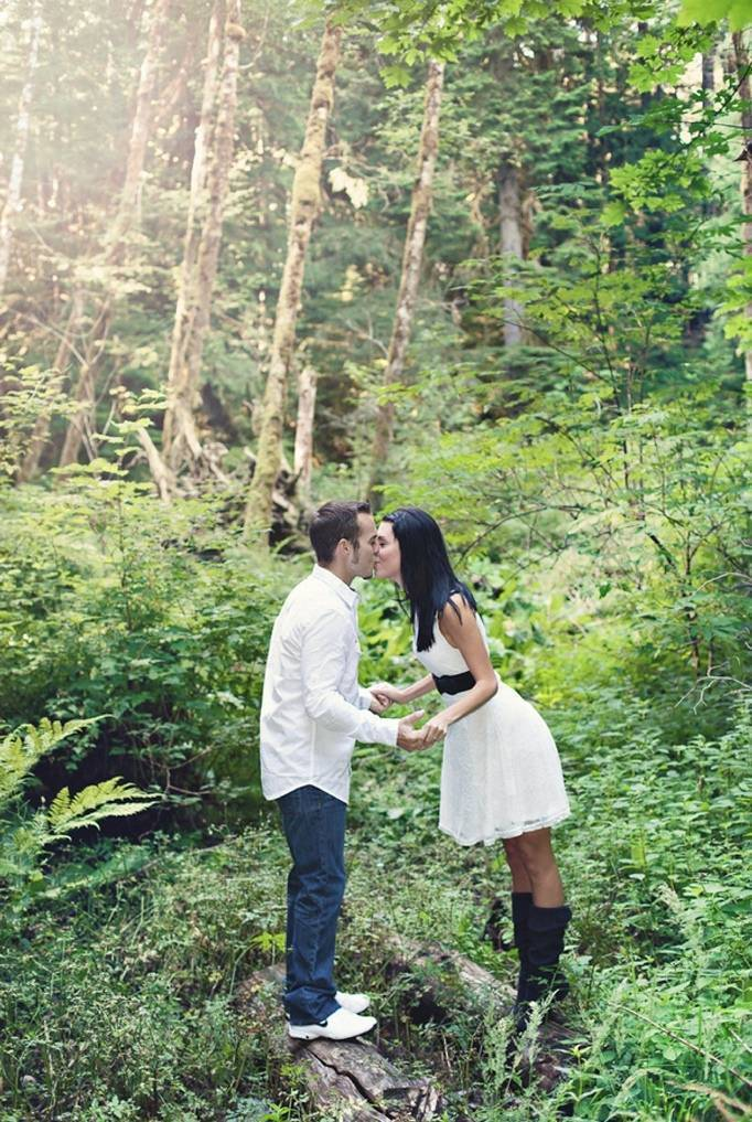 Into The Woods Engagement By Smiling Rain Photography