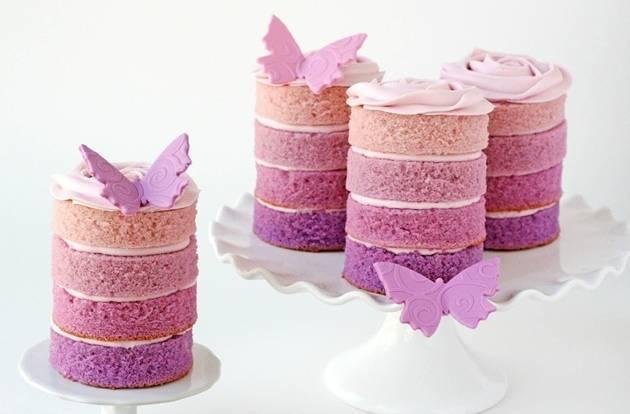 ombre mini cake