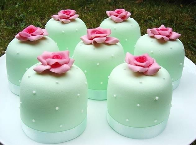 mint green mini cake