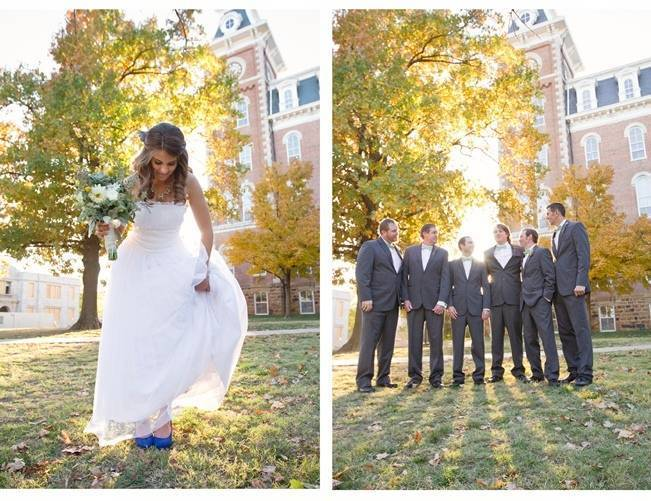 autumn light campus wedding