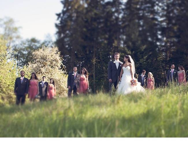 woodland washington wedding party