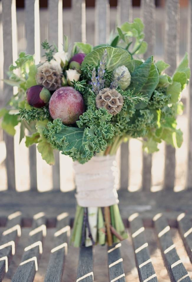 kale and raddish bouquet