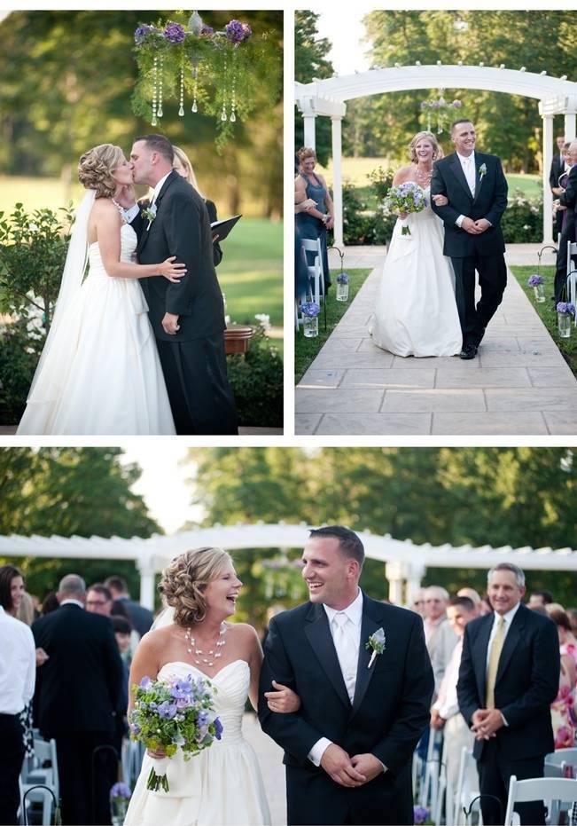 garden arbor wedding ceremony