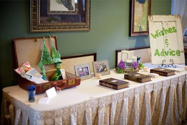advice table for bride and groom