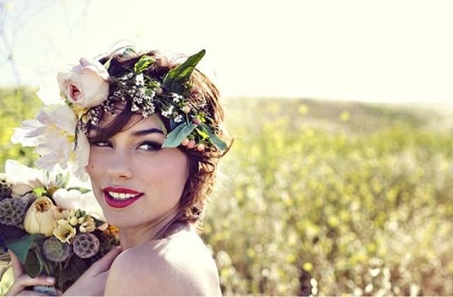 real flower crown