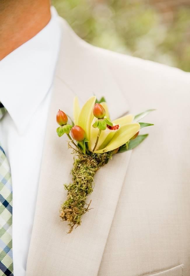 moss woodland boutonniere