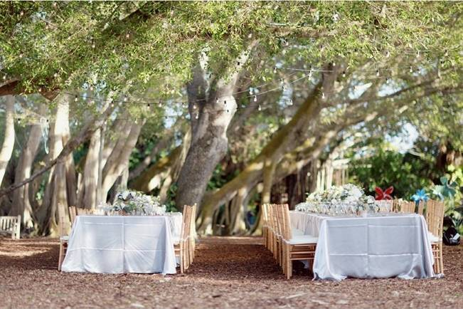 outdoor garden wedding reception area Florida