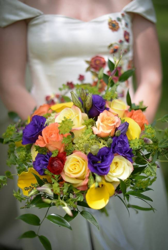 purple yellow orange bouquet